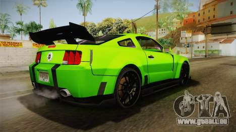 Ford Mustang NFS Green pour GTA San Andreas laissé vue