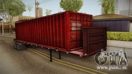 Red Trailer Container HD pour GTA San Andreas