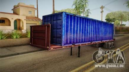 Blue Trailer Container HD pour GTA San Andreas