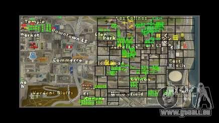 Karte mit den Nummern der Häuser ARP für GTA San Andreas