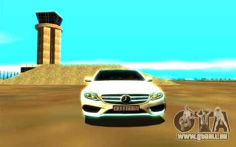 Mercedes-Benz C250 für GTA San Andreas Rückansicht