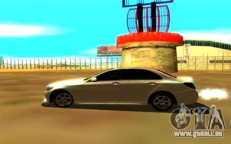 Mercedes-Benz C250 für GTA San Andreas zurück linke Ansicht