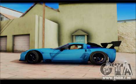Chevrolet Corvett Z06 pour GTA San Andreas sur la vue arrière gauche