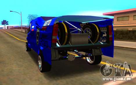 GAZ Next Rally für GTA San Andreas zurück linke Ansicht