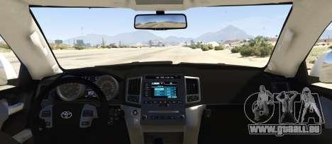 GTA 5 Toyota Land Cruiser 200 Zeus hinten links Seitenansicht