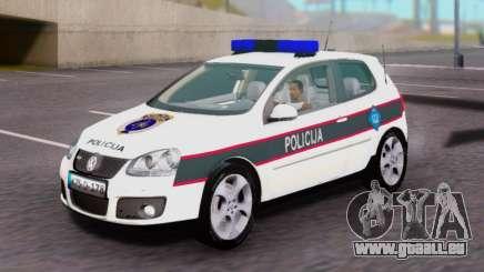 Volkswagen Golf V BIH Police Car für GTA San Andreas