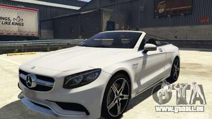 Mercedes-Benz S63 AMG Cabriolet pour GTA 5