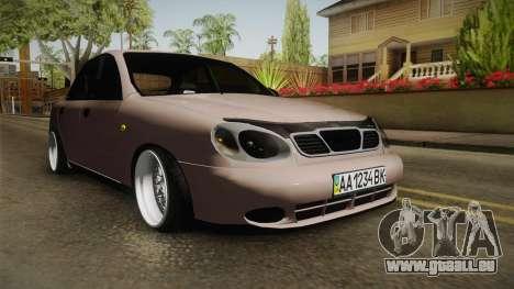 Daewoo Lanos Sedan 2001 pour GTA San Andreas vue de droite