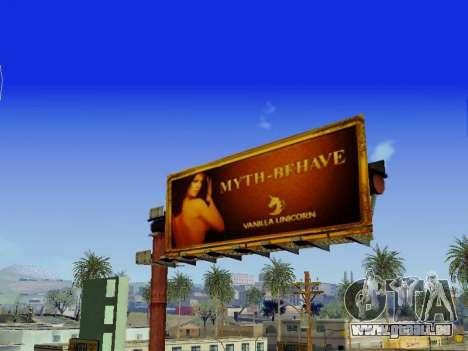 GTA V Billboards v2 pour GTA San Andreas quatrième écran