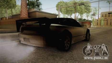 Nissan 240SX Lowpoly pour GTA San Andreas sur la vue arrière gauche