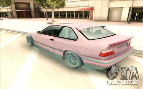 BMW E36 pour GTA San Andreas laissé vue