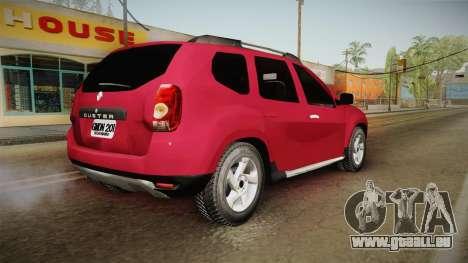 Renault Duster pour GTA San Andreas laissé vue