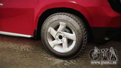 Renault Duster pour GTA San Andreas vue arrière