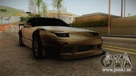 Nissan 240SX Lowpoly pour GTA San Andreas vue de droite