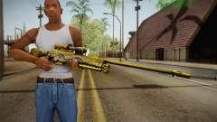 Cross Fire - AWM Infernal Oragon Noble Gold pour GTA San Andreas