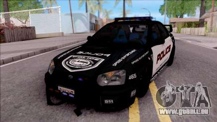 Subaru Impreza WRX STi High Speed Police für GTA San Andreas