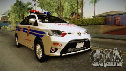 Toyota Vios 2014 Philippine National Police pour GTA San Andreas