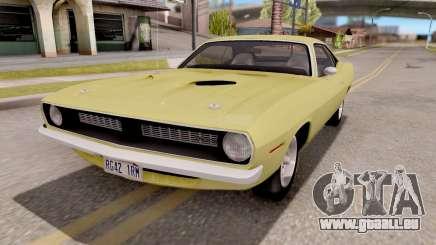Plymouth Hemi Cuda 440 1970 pour GTA San Andreas