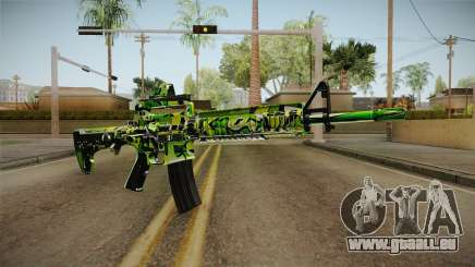Green Camouflage M4 pour GTA San Andreas