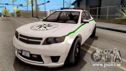 GTA V Cheval Fugitive Police Czech Old Style für GTA San Andreas