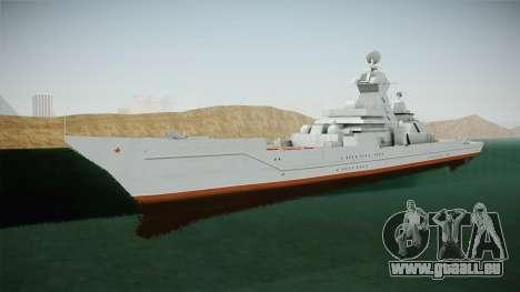 Kirov Class Battlecruiser für GTA San Andreas rechten Ansicht