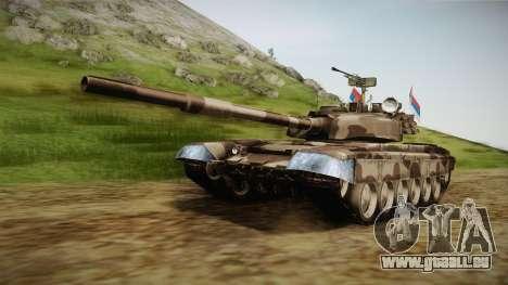 M84 Tank pour GTA San Andreas sur la vue arrière gauche