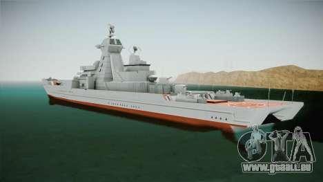 Kirov Class Battlecruiser für GTA San Andreas zurück linke Ansicht