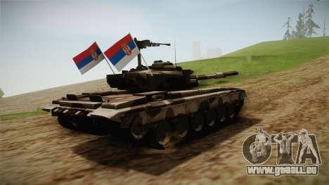 M84 Tank pour GTA San Andreas vue de droite