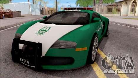 Bugatti Veyron Dubai High Speed Police pour GTA San Andreas
