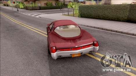 Driver PL Cerva V.2 pour GTA San Andreas sur la vue arrière gauche