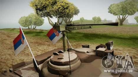 M84 Tank pour GTA San Andreas vue arrière