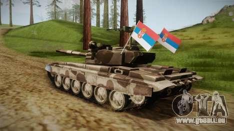 M84 Tank pour GTA San Andreas laissé vue