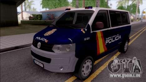 Volkswagen Transporter Spanish Police pour GTA San Andreas