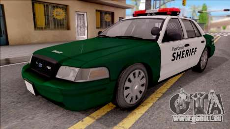 Ford Crown Victoria Flint County Sheriff 2010 pour GTA San Andreas