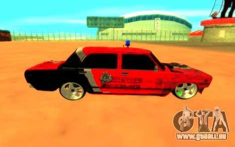 VAZ 2105 de Combat Classiques pour GTA San Andreas sur la vue arrière gauche