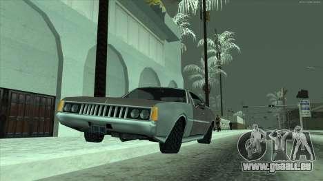 Pneus neige machines pour GTA San Andreas troisième écran