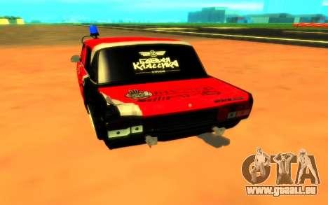 VAZ 2105 de Combat Classiques pour GTA San Andreas vue arrière