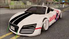 Audi R8 Spyder Angel Beats für GTA San Andreas