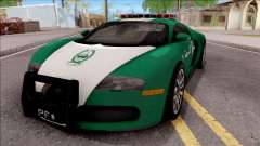 Bugatti Veyron Dubai High Speed Police für GTA San Andreas