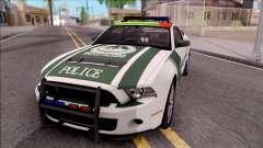 Ford Mustang Shelby GT500 Dubai HS Police für GTA San Andreas