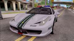 Ferrari 458 Italia Dubai High Speed Police pour GTA San Andreas