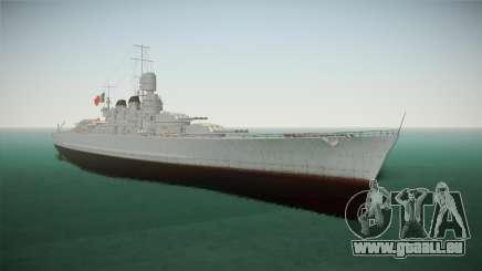Littorio Class Battleship für GTA San Andreas