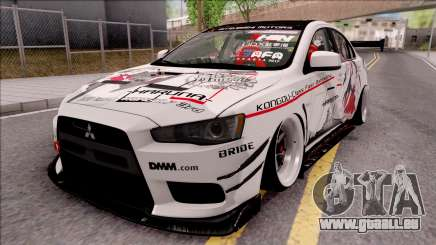 Mitsubishi Lancer Evolution X KC Itasha für GTA San Andreas