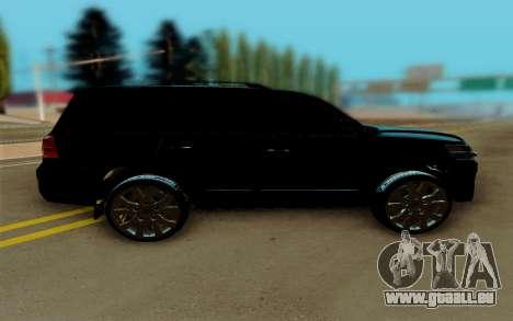 Toyota Land Cruiser 200 pour GTA San Andreas laissé vue