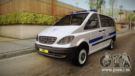 Mercedes-Benz Vito Algerian Police pour GTA San Andreas vue de droite