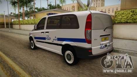 Mercedes-Benz Vito Algerian Police pour GTA San Andreas sur la vue arrière gauche