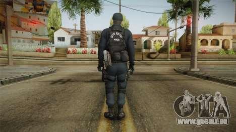 Turkish Riot Police Officer - Long Sleeves pour GTA San Andreas troisième écran