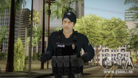 Turkish Riot Police Officer - Long Sleeves pour GTA San Andreas