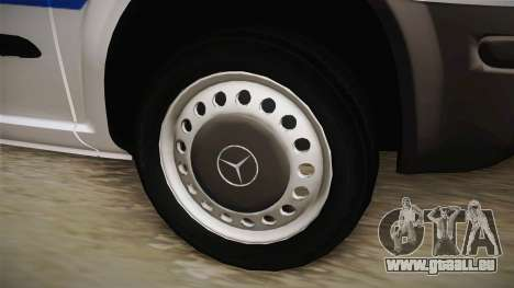 Mercedes-Benz Vito Algerian Police pour GTA San Andreas vue arrière