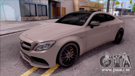 Mercedes-Benz C63S AMG Coupe 2016 pour GTA San Andreas